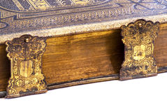 Side detail of a vintage Bible Stock Photo