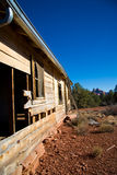 Side of dilapidated cabin Royalty Free Stock Images