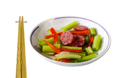 Side dish with chopsticks Stock Photo