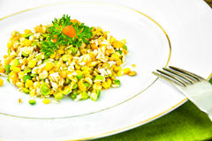 Side Dish of Lentils, Peas, Barley  Maize and Rice Stock Photography