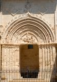 Side door of the cathedral of Ragusa in Sicily Stock Photography