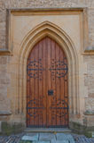 Side door of the Cathedral of St Barbara in Kutna Hora Royalty Free Stock Photo