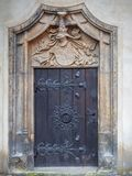 Side door of the Luther castle church. Frontal exterior view of an unnoticed e door of the Schlosskirche in Lutherstadt Wittenberg Stock Images