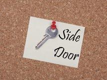 Side door note Stock Photos
