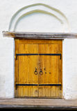 Side door. Postern of medieval church in Veliky Novgorod, Russia Royalty Free Stock Image