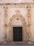Side door of St. James in Sibenik. Side door of St. James Cathedral in Sibenik, Croatia Royalty Free Stock Photo