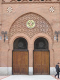 Side door to Madrid Bull Ring royalty free stock images