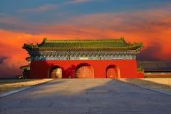 A side door/wall of the Temple of Heaven, Beijing Stock Images