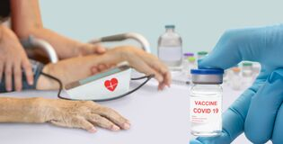 Free Side Effects Of COVID-19 Vaccines ,Hypertension After Vaccination In Elderly Royalty Free Stock Photo - 218748915
