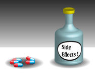 Side effects theme Royalty Free Stock Image