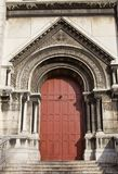Side entrance of the Basilica of the Sacred Heart of Paris (1914 Stock Photo