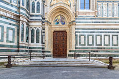 Side entrance of the Dome in Florence Stock Photos