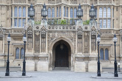 Side Entrance Door of Houses of Parliament, Westminster; London Royalty Free Stock Image