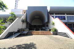 Side entrance of Masjid Universiti Putra Malaysia at Serdang, Selangor, Malaysia Royalty Free Stock Photography