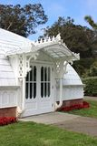 Side entrance porch of the Conservatory of Flowers, San Francisc royalty free stock photos