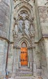 Side entrance of Stavanger Cathedral  (XIII c.). Norway Royalty Free Stock Photography