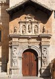 Side entrance to the cathedral of Granada, Spain Royalty Free Stock Images