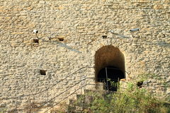 Side entrance to wall of Kokorin castle Stock Images