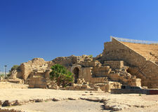 Side Entry of the Amphitheater in Caesarea Maritima National Park Stock Image