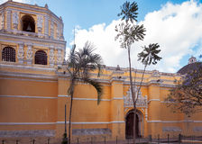 Side Entry to La Merced Church in Antigua, Guatemala. The side elavation of La Merced church in historic centre of Antigua, Guatemala. Antigua was as listed royalty free stock photography