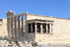 Side of Erechtheum. At acropolis of Athens in summer, Greece Royalty Free Stock Photo