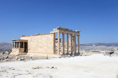 Side of Erechtheum greek temple Royalty Free Stock Photography
