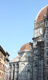 Side facade of the Duomo of Florence. Royalty Free Stock Images