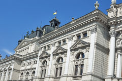 Side facade of Lviv State Academic Opera and Ballet Theatre Royalty Free Stock Images
