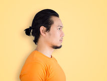 Side face of Asian man. Stock Image