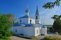 Side face of Church of the Annunciation of the Blessed Virgin on Cathedral square in Kasimov city, Russia stock images