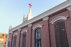 Side face of the famous zhushutang church of amoy city, china. Royalty Free Stock Photos