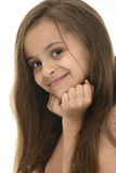 Side Face Portrait of Attractive Young Girl With Beautiful Smile Royalty Free Stock Photo