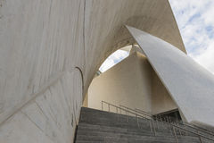 Side face and stairs of Concert Hall of Calatrava Royalty Free Stock Photo