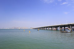 Side face of xinglin bridge Stock Photography