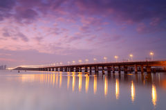 Side face of xinglin bridge at dusk Royalty Free Stock Image