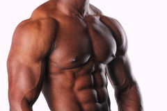 Side facing male torso. Image of a black male torso Royalty Free Stock Photography