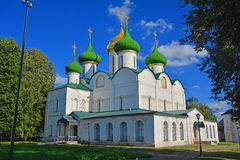 Side fasade of Cathedral of Transformation of Saviour in Spaso-Evfimiyevsky monastery in Suzdal, Russia Stock Photos