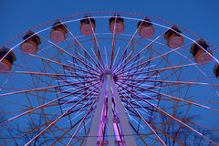 Side of Ferris Wheel at night Stock Image