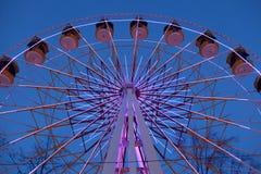 Side of Ferris Wheel at night Stock Image