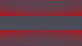SIDE flight seamless grid net polygonal wireframe abstract retro tunnel slow motion loop drawing motion graphics. Grid net abstract drawing polygonal soft moving stock video