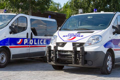 Side of a French police car or truck Royalty Free Stock Images