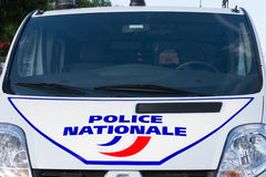 Side of a French police car or truck Stock Images