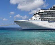 Side front view of Cruise Ship Stock Image