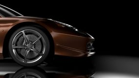 Side/front view sport car Stock Image