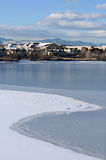 At Side of Frozen Lake Stock Images