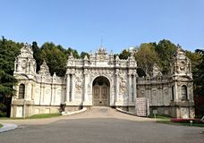 Side gate of Dolmabahce palace Stock Images