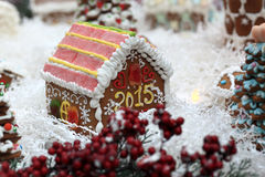 Side of gingerbread house Royalty Free Stock Images