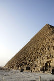 Side of giza pyramids Stock Images
