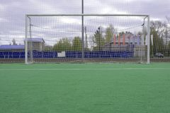 7-a-side Goals Placed Opposite Each Other, Closer For Smaller Game. royalty free stock photos
