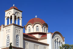 Side of greek church Stock Photography